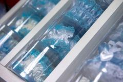 Blue garter for the bride Stock Photos