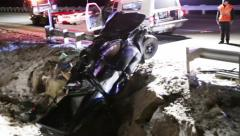Pickup crash Stock Footage