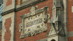Detail Rijksmuseum (plaque with date of origin) Stock Footage