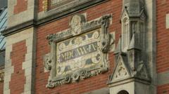 Stock Video Footage of Detail Rijksmuseum (plaque with date of origin)