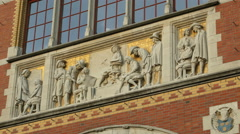 Detail Rijksmuseum, tableau Stock Footage