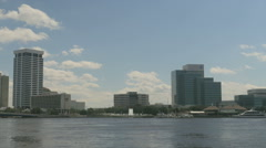 Jacksonville South bank office buildings - stock footage