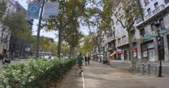 4K Biking in Barcelona - stock footage
