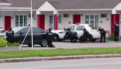 Stock Video Footage of barricaded man at motel with hostage