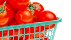 Raw tomato cherry Stock Footage