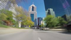4K Timelapse Pittsburgh City Driving POV Stock Footage