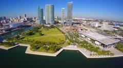 Museum Park 4k aerial Stock Footage