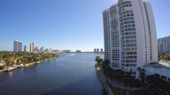 View from William Lehman Causeway Aventura Florida 4k - stock footage