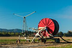 crop irrigation system - stock photo