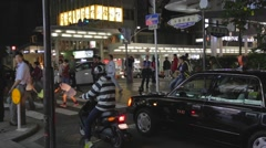 Kyoto nightlife - Gion Kiyamachi dori Stock Footage