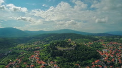 Aerial shot of town Sinj in Croatia Stock Footage