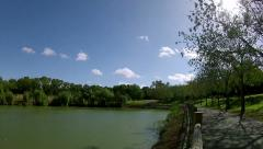 Pan Timelapse  - Miraflores Park -  Seville - Spain Andalusia 001 50s Stock Footage