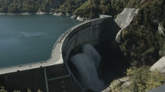 Kurobe dam zoom up, non color graded Full HD (1920x1080) - stock footage