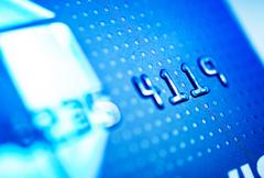 Credit card payments. debit bank card closeup photo. Stock Photos