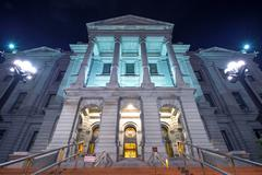 Stock Photo of denver colorado capitol building at night.