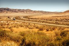 western utah landscape and interstate i-80. - stock photo