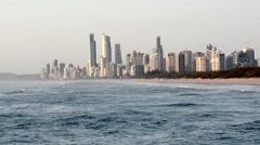 Surfers Paradise skyline Stock Footage