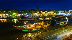 1080 - Timelapse of old Hoi An city in Vietnam - stock footage