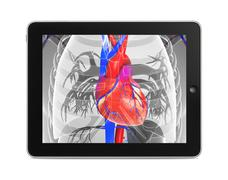 Tab with heart Stock Illustration