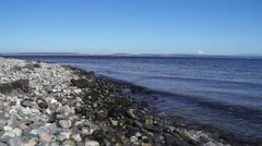 Rocky Northwest Beach on a Sunny Day Stock Footage