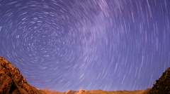 Milky Way is far off. Line. Time Lapse - stock footage