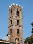 lucca - view on the romanesque san giovanni church. tuscany - stock photo