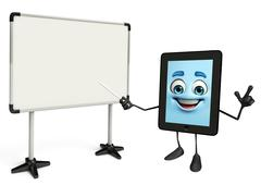 Stock Illustration of tab character with display board