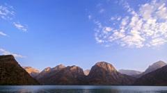 Sunset over the lake. Zoom. Time Lapse. Pamir, Tajikistan Stock Footage