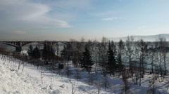 Magic ice of siberia Stock Footage