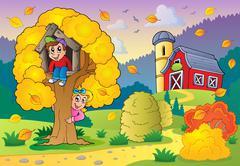 autumn activity theme - illustration. - stock illustration