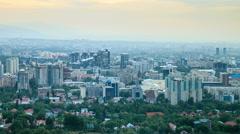 Night over the city. Panorama. Almaty, Kazakhstan Stock Footage