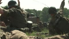 Germans surrender to Americans in combat WW2 Stock Footage