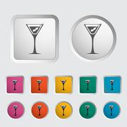 Martini single icon. Stock Illustration