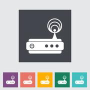 Router single flat icon. - stock illustration