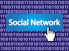 Social Network Stock Illustration