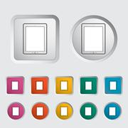 Tablet PC icon. Stock Illustration