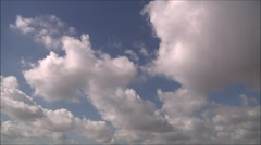 White clouds, blue sky, day time, timelapse, 3 ccd, 1080p - stock footage
