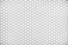 White shiny hexagon bubble tile texture background Stock Photos