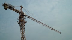 Crane construction site in Shenzhen, Chinese Stock Footage