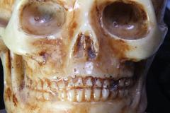 Stock Photo of skull with teeth and eye orbits