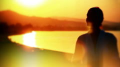 Romantic scene on the sea Stock Footage