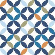 vintage seamless pattern - stock illustration
