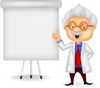 Stock Illustration of Professor cartoon teaching