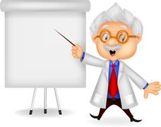 Professor cartoon teaching Stock Illustration
