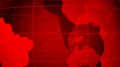 World map. Loop able media background. Red. Stock Footage