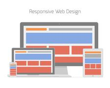 Responsive web design in different electronic devices Piirros