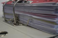 Paperwork in ring binder Stock Photos