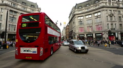 London Oxford Circus central view traffic and people crossing time lapse Stock Footage