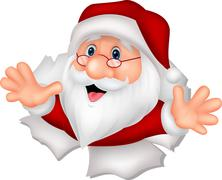 Santa Clause cartoon - stock illustration