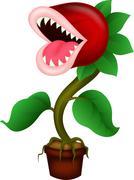 Carnivorous plant cartoon Stock Illustration